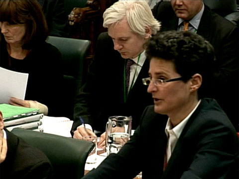 clare montgomery & julian assange