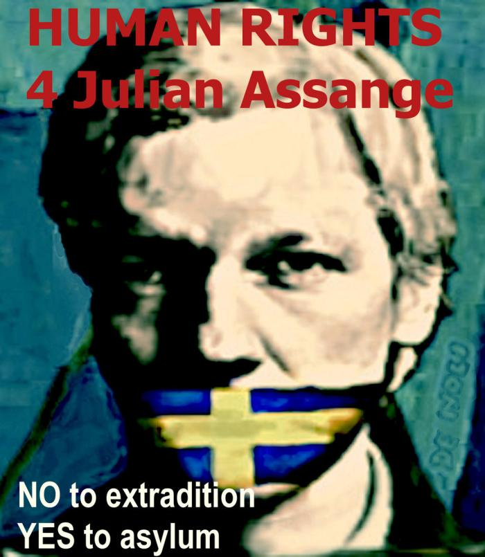 Assange extradition NO! - by Arte de Noli