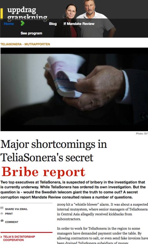 bribereport uppdrag granskning