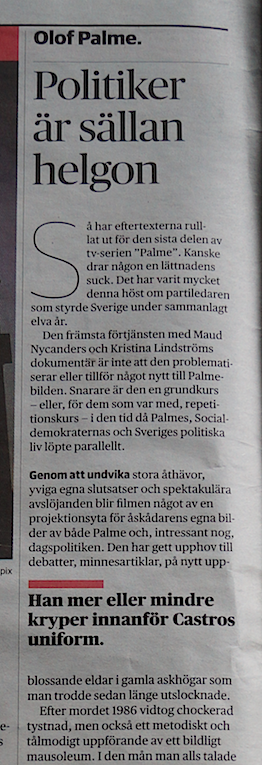 DN, Palme ''kryper''