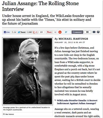 Michael Hastings interviews JA