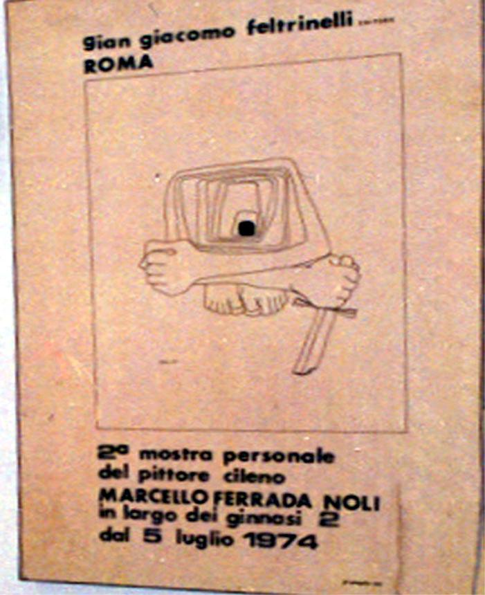 poster-Ferrada-Noli at Feltrinelli, Rome