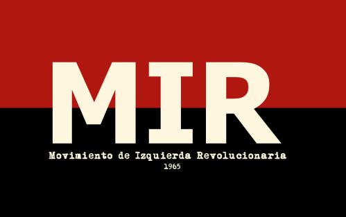 Bandera del MIR diseñada en 1965 por Marcello Ferrada de Noli, para Congreso de Fundación del MIR. Red and Black flags. Anarchist flag. Banderas anarquistas