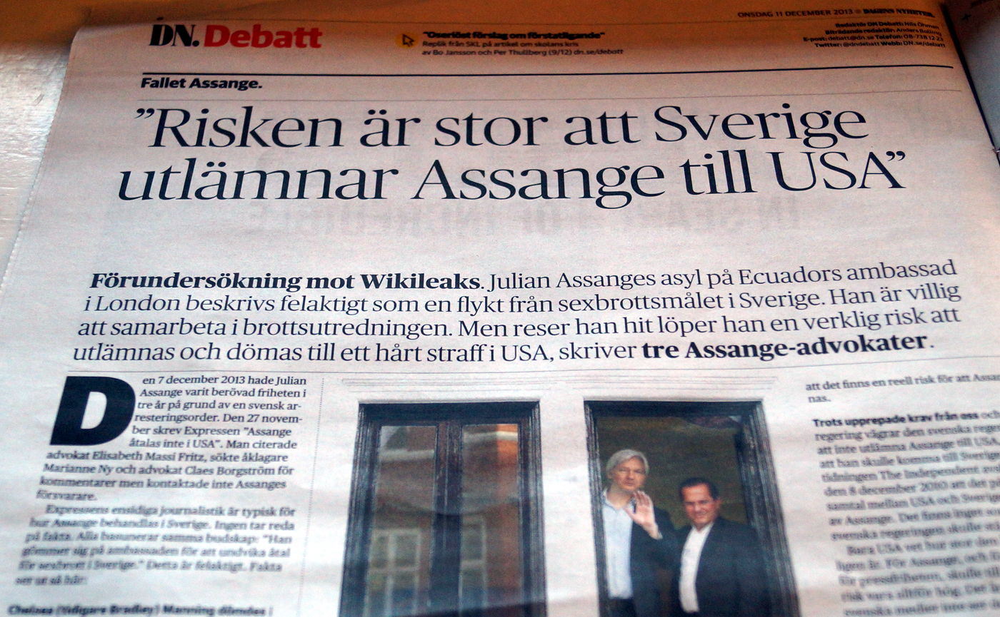 dn debat Assange