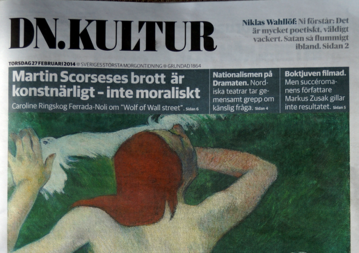 DN Kultur -cover 27 Feb 2014