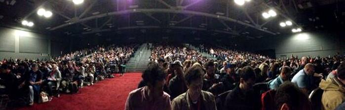 Full house to hear Assange