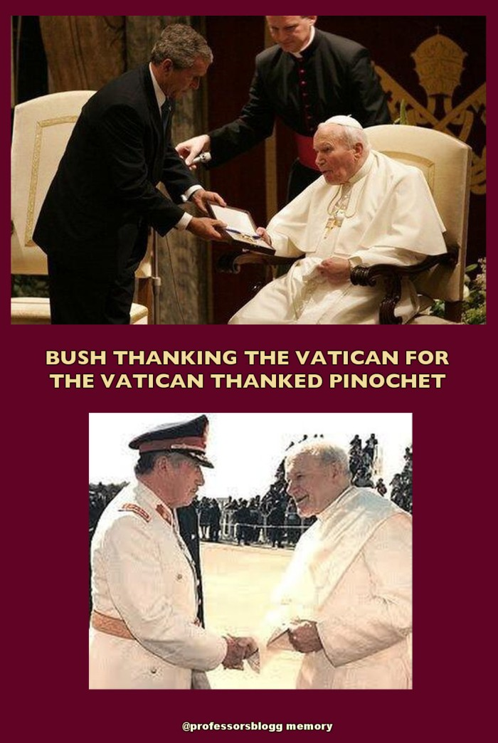 bush inoco pope to publish