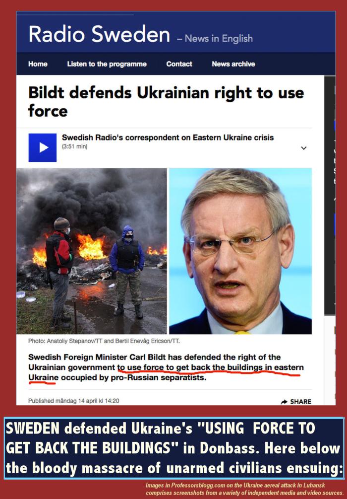 bild försvara användningen av våld i Donbass