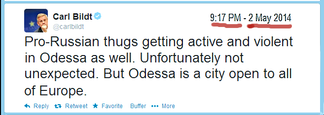 Carl Bildt twitter Odessa pro-Russian THUGS