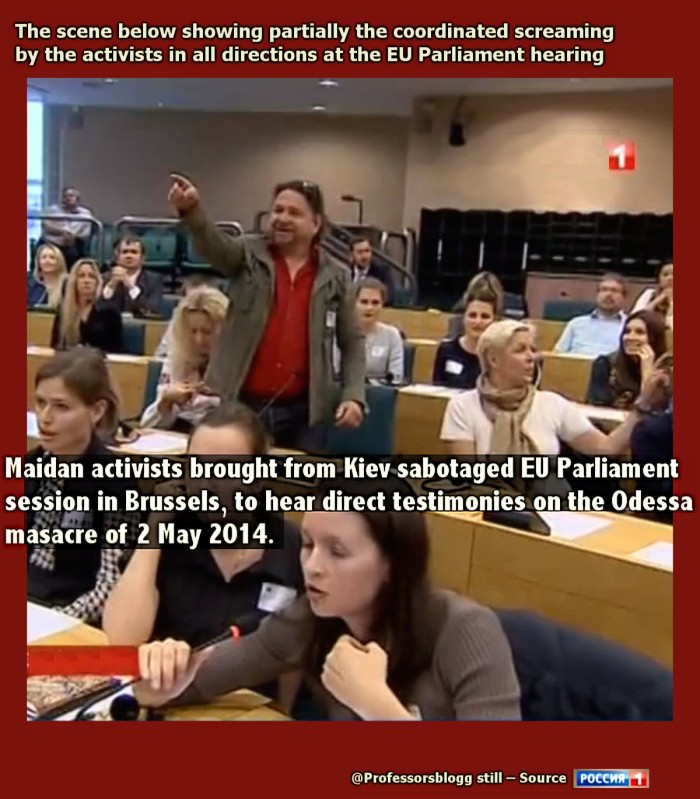 Maidan activists from fiev sabotage EU Parliament hearing on Odessa massacre