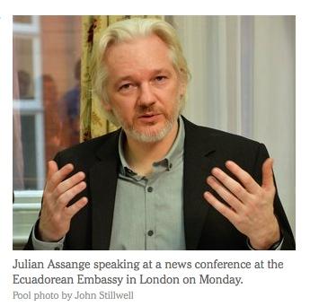 assange new conf london