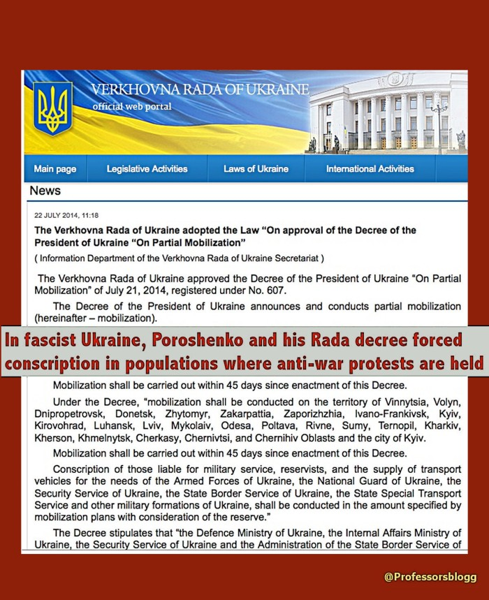 Forced conscription in fascist ukr