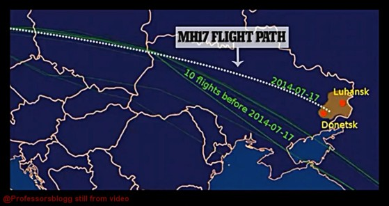 mh17 routes