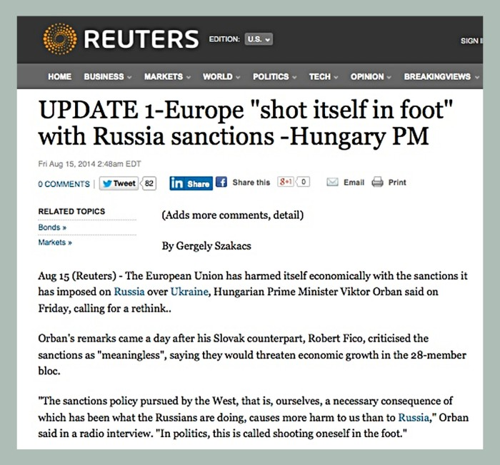 reuters on the foot