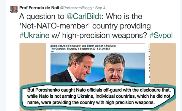 Prof Ferrada de Noli on Twitter. A question to Carl Bildt