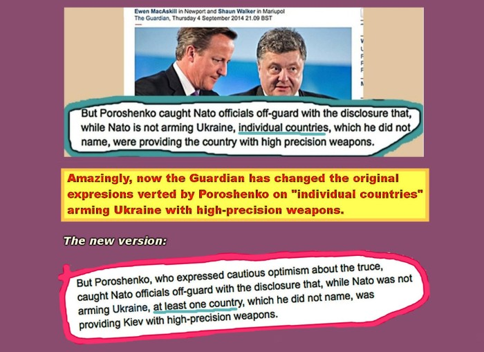 Prof Ferrada de Noli on Twitter. Guardian caught changing versions on 'countries' secretly arming Ukraine