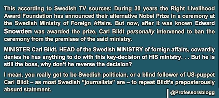 "Prof Ferrada de Noli on Twitter. Minister Bildt ""denies"""