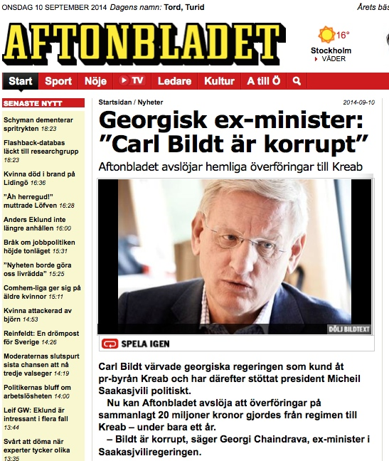 swe AL on bildt