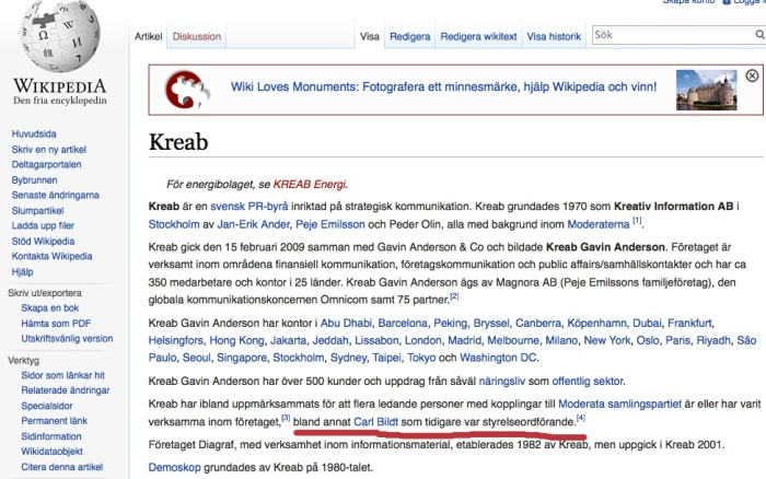 wikipedia Swe on Kreab