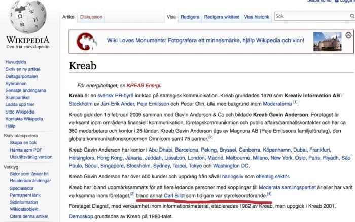 wikipedia Swe on Kreab