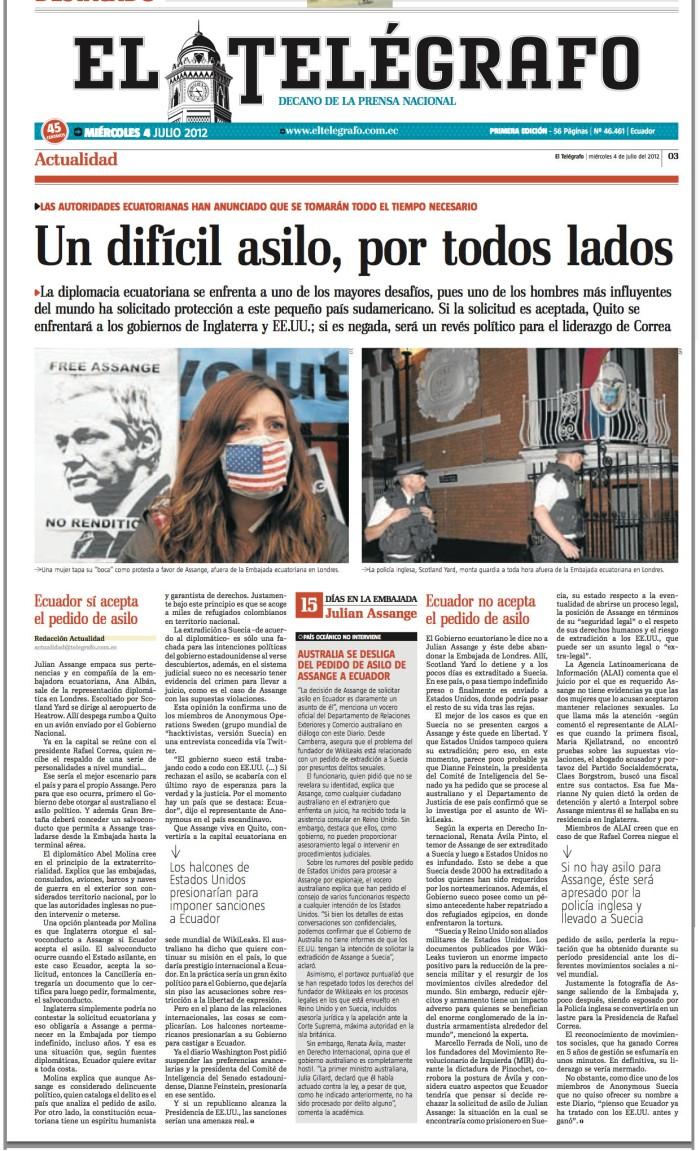 El Telegrafo M.Macias entrevista Marcello Ferrad de Noli 2012