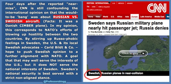 CNN insists, 'Swedish' plane