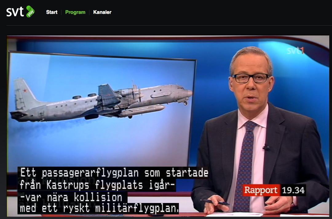 Sas plan nara krocka med ryskt militarflyg