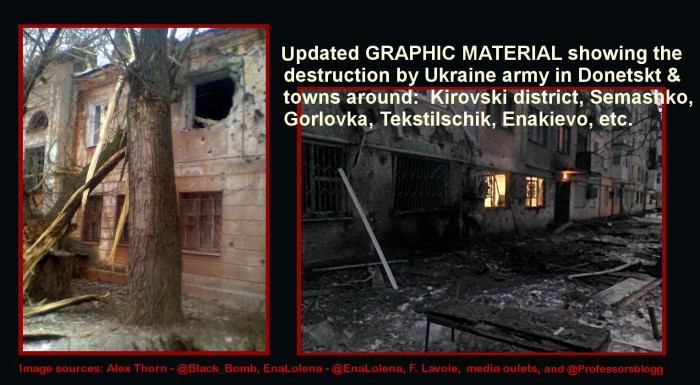 To blog - updated graphic material on Donetsk destruction