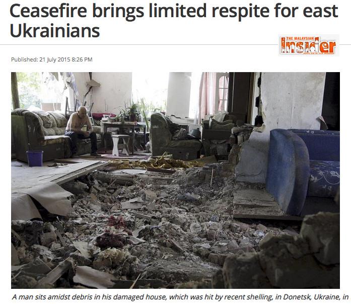 debris in Donetsk
