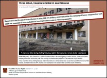 hospital shelled in donetsk