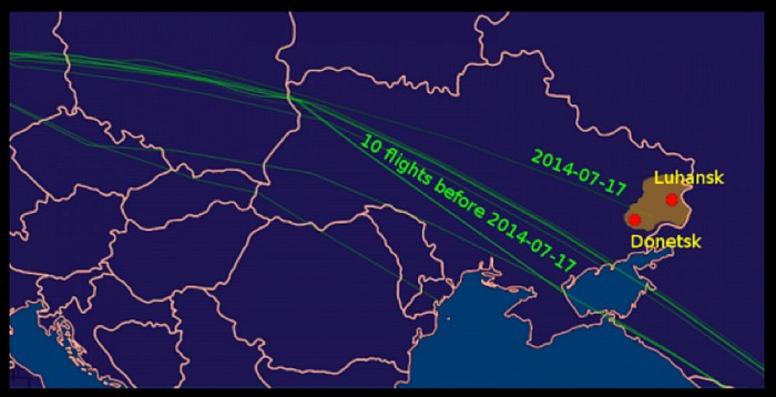 mh17 routes changed