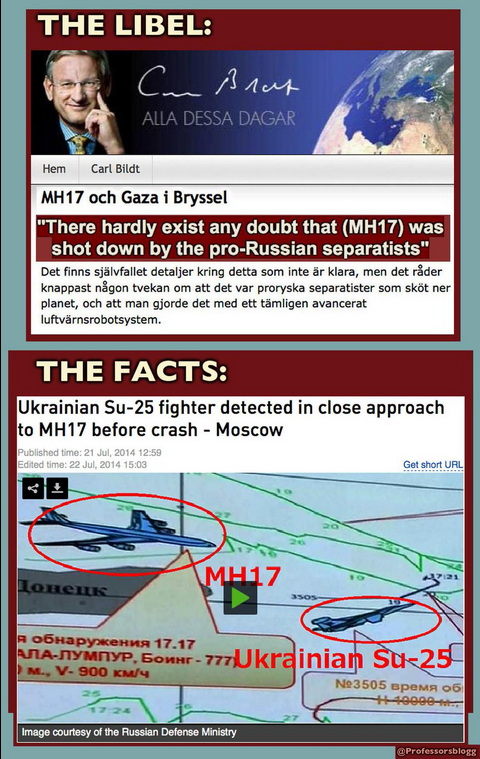 libel & facts on MH17