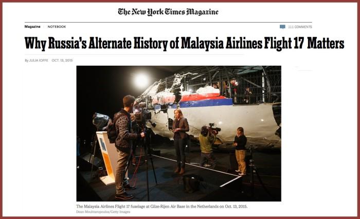 nyt magazine MH17