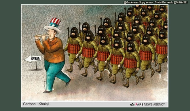 USA flute in syria