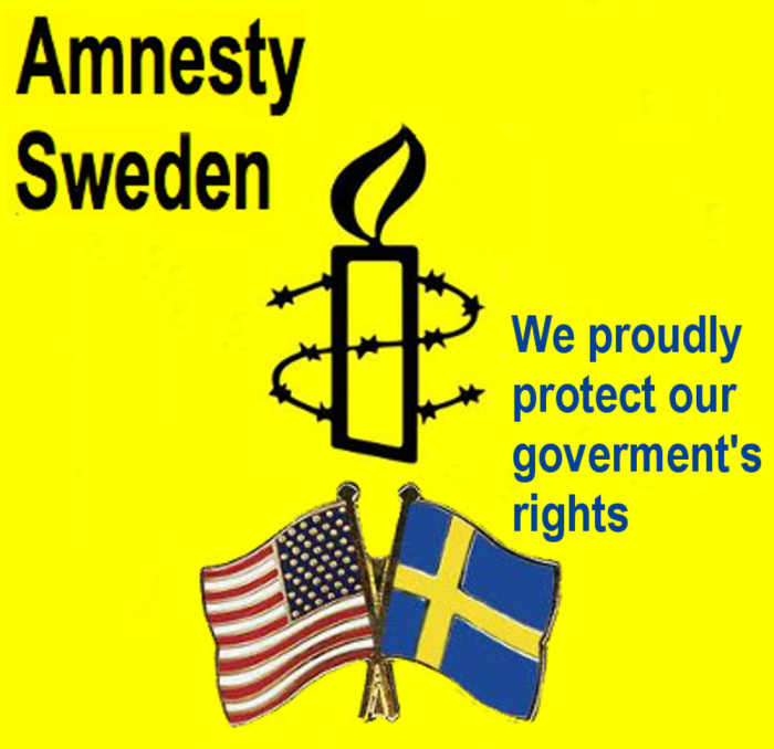 Amnesty Sweden - ''we proudly rotect our goverment's rights''