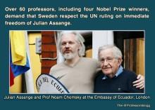 Over 60 pofessors demand Assange's freedom